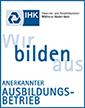 Anerkannter Ausbildungsbetrieb - IHK