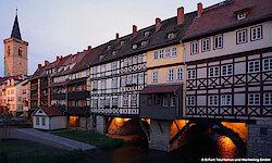 Erfurt Krämerbruecke bei Nacht