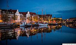 Lübeck Traditionssegler Untertrave am Abend