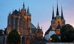 Erfurt Dom und Severi bei Nacht